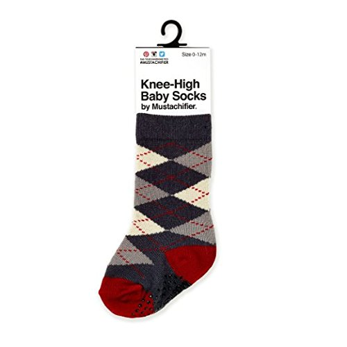 Mustachifier Knee High Argyle Baby Socks product image