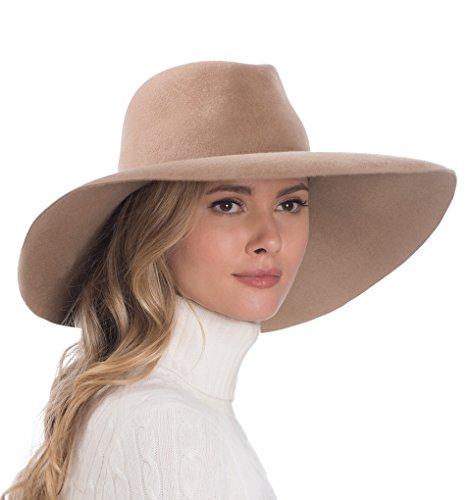 Eric Javits Luxury Fashion Designer Women's Headwear Hat - Velour Floppy - Camel by Eric Javits