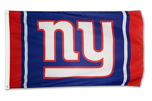 Winner-Sports NFL New York Giants 3x5 Foot Polyester Flag - Vivid Color and Double Stitched - Super Bowl Banner with Brass Grommets 3 X 5 FT