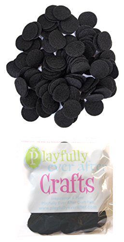 Playfully Ever After 1 Inch Black 100pc Felt Circle Stickers (Best Chess Game Ever For Pc)
