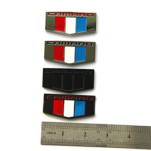 1x OEM Camaro M Emblem Badge Front Right Left Fender 3D L Chevrolet Black Chrome