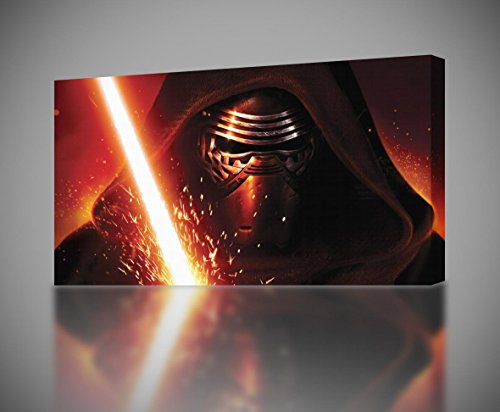 STAR WARS The Force Awakens Kylo Ren CANVAS PRINT Wall Art Giclee CA101, Regular
