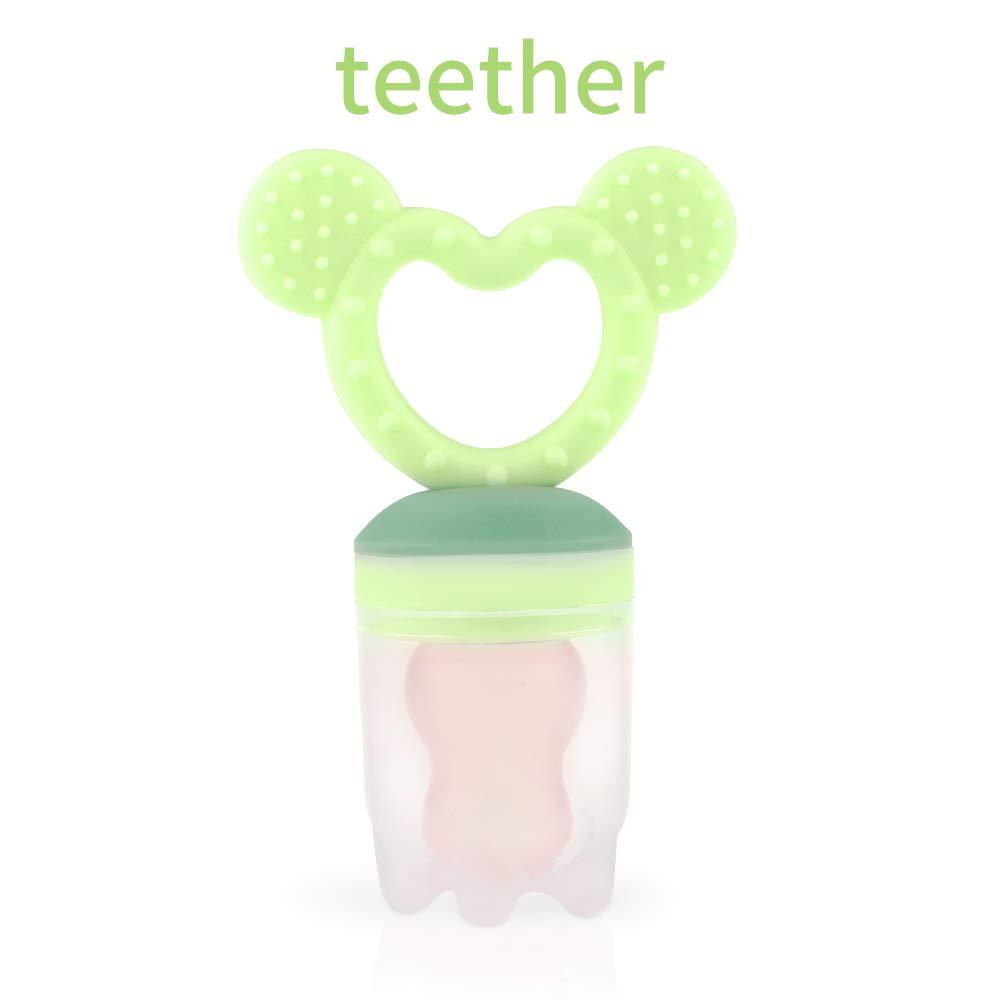 ZOSHING Baby Hippo Alimentador de Alimentos de Silicona / Alimentador de Frutas Chupetes / Mordedor de Dientes /Juguete de Dentición/ Feeder ...