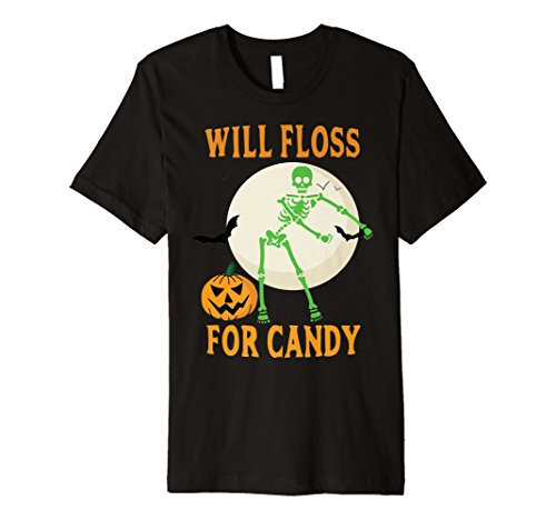 Flossing Halloween Skeleton Will Floss For Candy Shirt -