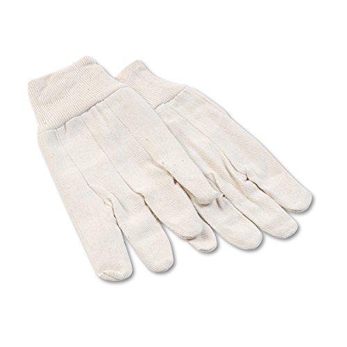 Galaxy 7 8 oz White Large Cotton Mens Canvas Gloves ()
