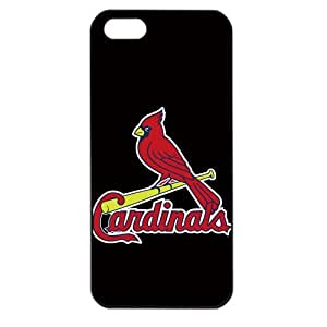MLB Major League Baseball St. Louis Cardinals Apple iPhone 5 TPU Soft Black or White case (Black)