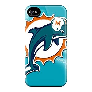 Iphone 4/4s BoM5209TPDg Customized High-definition Miami Dolphins Series Protective Hard Phone Cases -ColtonMorrill