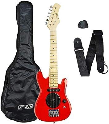 3rd Avenue STX05RD Guitarra eléctrica de tamaño 1/4, Rojo: Amazon ...