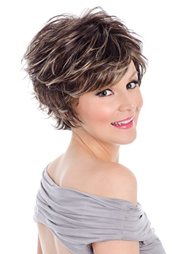 Tony of Beverly Womens Synthetic Wig ''Kenzie''-Caramel Kiss: 8 w/chunky gold & red ()