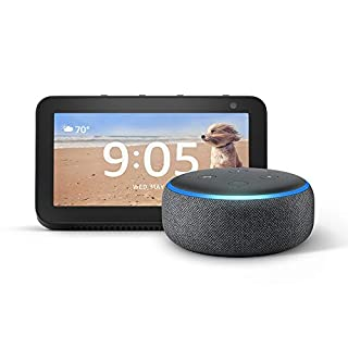Echo Show 5 (Charcoal) with Echo Dot (Charcoal)
