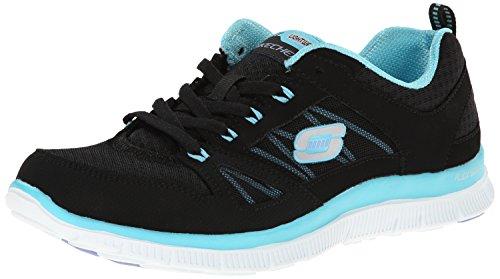 Skechers Flex Appeal, Zapatillas de deporte para mujer, Negro (BKTQ), 40