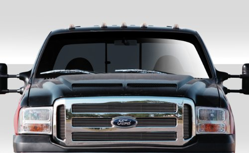 Ford Fiberglass Hood Scoop - Duraflex ED-URK-514 CVX Hood - 1 Piece Body Kit - Compatible For Ford Super Duty 1999-2007