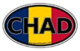 Chad Flag Africa State Car Bumper Sticker Decal Oval