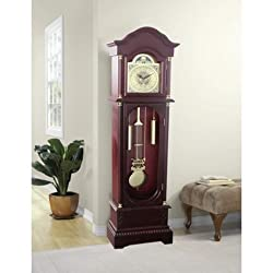 Grandfather Clock Modern Floor Face Corner Wall Chime Clocks Cherry SALE (Cherry)