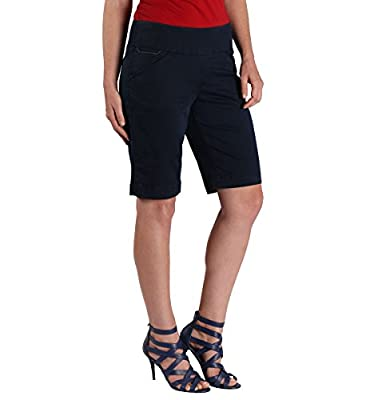 Jag Jeans Women's Petite Ainsley Pull On Twill Bermuda