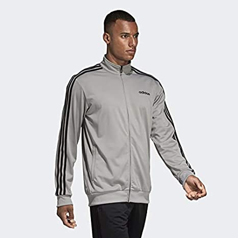 adidas Mens Essentials 3-stripes Tricot Track Jacket