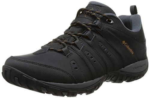 Columbia Woodburn II Waterproof Men's Low Rise Hiking Shoes, Black (Black/...