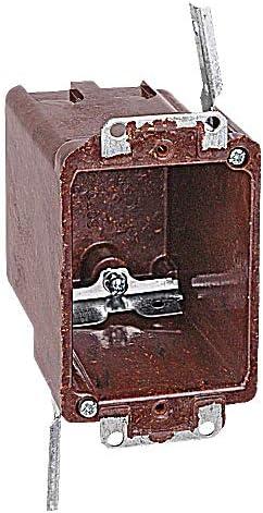 Thomas Betts 60704UB SwitchOutlet Box 1Gang Depth 314 Bracket NonMetallic