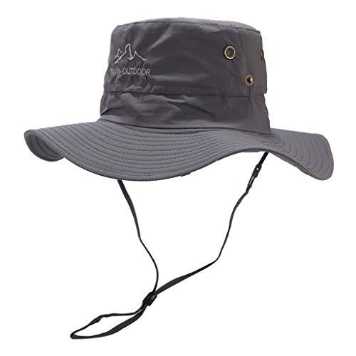Weiliru Outdoor Waterproof Boonie Hat Wide Brim Breathable Hunting Fishing Hat Sun Hat]()