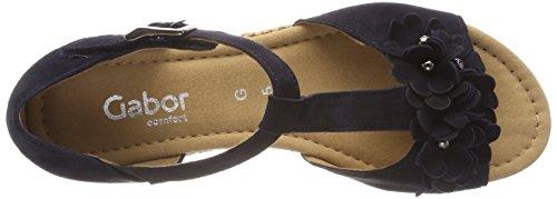 Gabor Comfort Sport, Sandali con Cinturino Alla Caviglia Donna Blu (Atlantik Grata)