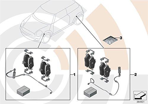 Wear Sensor For R55 R56 R57 34212289154 MINI Genuine Rear Brake Pads Set