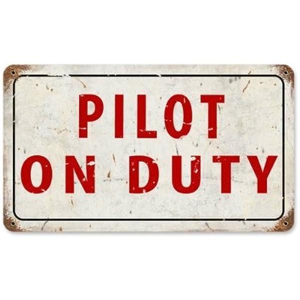 Nostalgic Tin Sign Bar Restaurant Decorative Metal Plate Retro pilot aircraft
