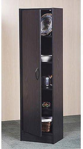 Mylex Pantry Single Door Storage Cabinet Cupboard Utility Closet Kitchen Furniture Black By Mylex Amazon De Kuche Haushalt Wohnen