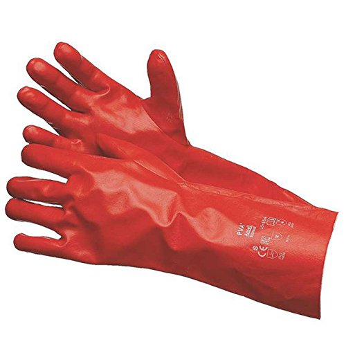 PVA Chemical Resistant Smooth Red Polyvinyl Alcohol Glove, X-Large, 14'' Long, 1-Pair per Bag