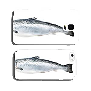Salmon fish isolated on white cell phone cover case iPhone5
