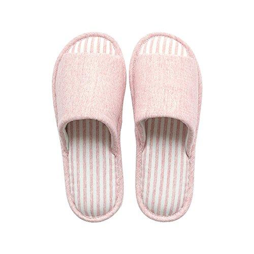 Fankou Indoor giovane home il cotone pantofole inverno femmina antiscivolo scarpe caldo confortevole, 36-37 ?adatto per 35-36 metri?, verde chiaro