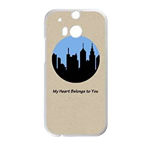 Generic Customize Unique Otterbox--City Silhouette Plastic Case Cover for HTC One M8(Laser Technology)