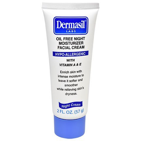 Dermasil Oil Free Night Moisturizing Facial Cream Hypo-Aller