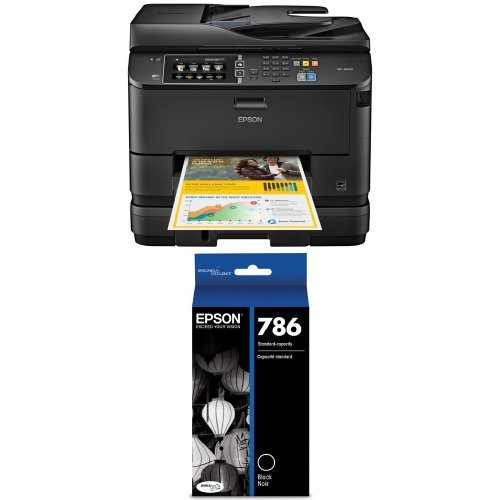 Epson WorkForce Pro WF-4640 Wireless Color All-in-One Inkjet Printer with Scanner and Copier and Epson T786120 DURABrite Ultra Standard-Capacity Ink Cartridge, Black