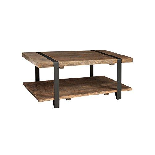 "Reclaimed Wood Coffee Table Amazon: Amazon.com: Alaterre AZAMSA1120 Stowe 42"" L Reclaimed Wood"