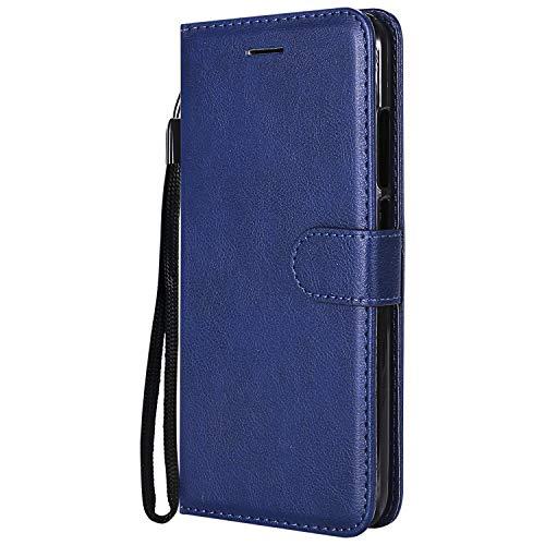 Lomogo Coque Xiaomi Mi 5X / Mi A1, Housse en Cuir Portefeuille avec Porte Carte Fermeture par Rabat Aimant Anti Choc Etui de Protection pour Xiaomi Mi5X / MiA1 - LOKTU23360 Marron Bleu