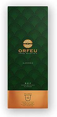 Cápsulas de Café Clássico Orfeu, Compatível com Nespresso, Contém 10 Cápsulas
