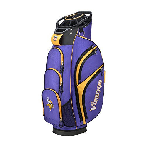Wilson 2018 NFL Golf Cart Bag, Minnesota Vikings (Best Way To Clean Golf Clubs)
