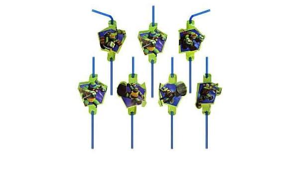 Pajas de beber las tortugas ninja: Amazon.es: Juguetes y juegos