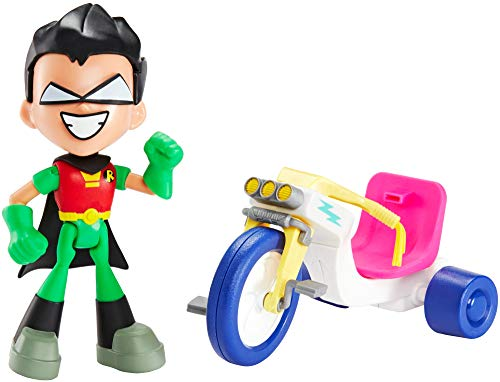 DC Comics Teen Titans Go! to The Movies Robin & Time Cycle Figure & Vehicle (Teen Titans Go Toys)