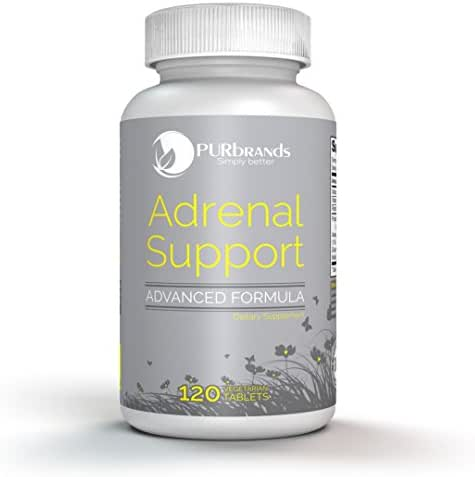 Adrenal Support - Advanced Vegetarian Formula: Naturally Boost Adrenal Gland Function, Balance Cortisol & Remedy Adrenal Fatigue (120 count)