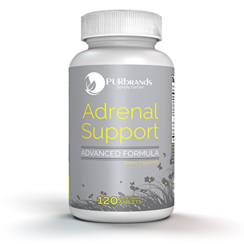 Adrenal Support - Advanced Vegetarian Formula: Naturally Boost Adrenal Gland Function, Balance Cortisol & Remedy Adrenal Fatigue (120 count) ()