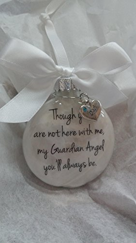 In Memory Dad Gift My Guardian Angel You'll Always Be - Father Memorial Christmas Ornament