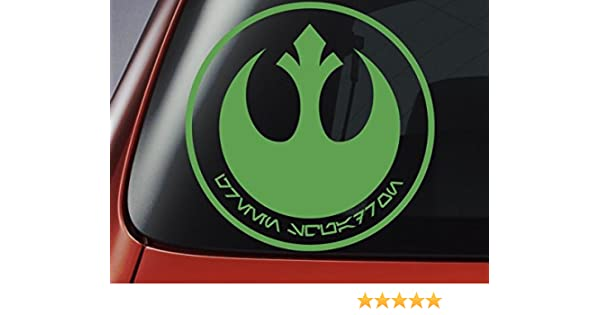 Star Wars – X-Wing//A de caza Ala-Y – Wing/b-wing Squadron Emblema y color con aurebesh idioma – Adhesivo en vinilo, ideal para coches, ventanas, paredes, portátiles, guitarras – Adhesivo: Amazon.es: Coche y