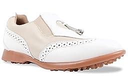 Sandbaggers Madison II Women\'s Golf Shoes (Almond, 6)