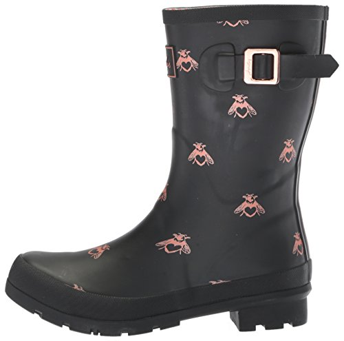 Joules Women's Mollywelly Rain Boot, Black Love Bees, 9 Medium US by Joules (Image #5)