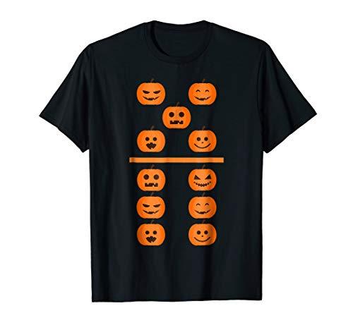 Pumpkin Emoji Domino 5 6 Halloween Matching Costume T Shirt for $<!--$17.99-->