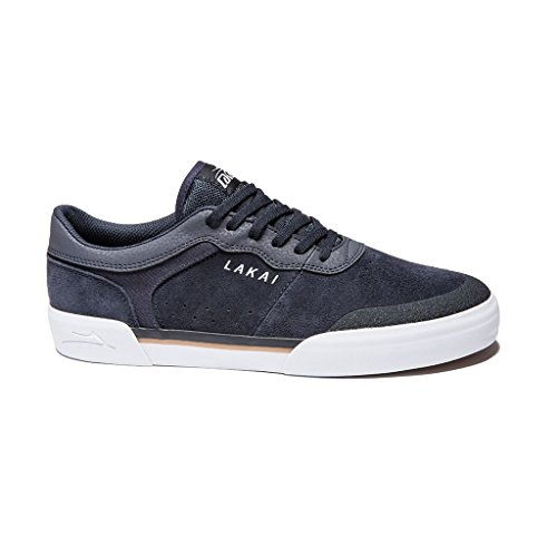 Lakai Skateboard Shoes Staple Navy Suede Size ()