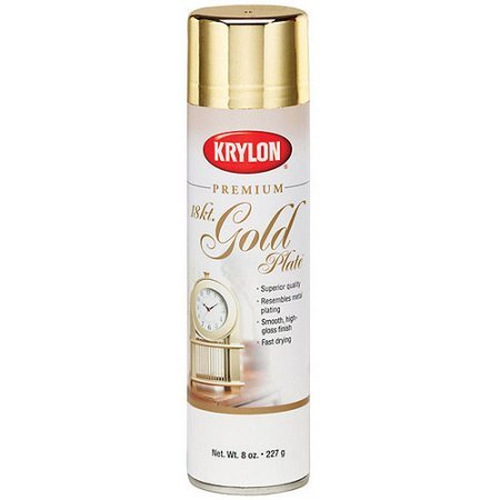 PACK OF 3 - Metallic Spray Paint 8 Ounces, 18 Karat Gold by Krylon