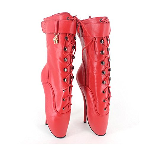 Heels Extrem l Scarpe Bl001 Red Cosy Plateau Alto Elegante Stringati High Tacco Col Stivali Donna Stivaletti dBw6qYYz