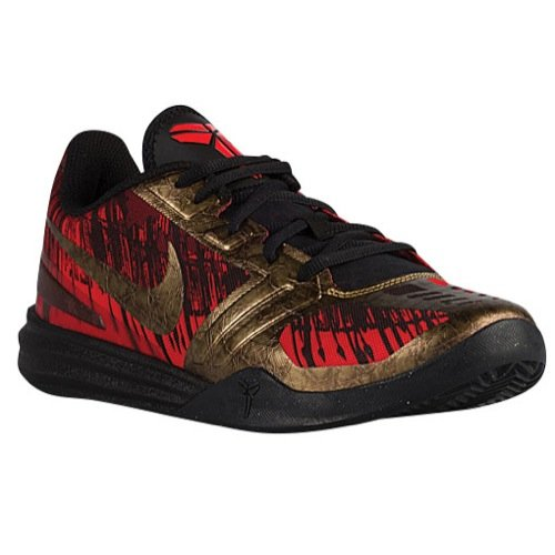 - Nike KB Mentality Mens Basketball Shoe (Black/Challenge red/Team red/Metallic Aged Coin, 9 M US)